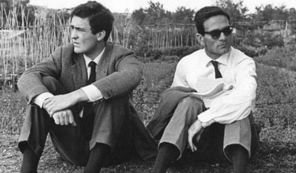 """Bernardo Bertolucci e Pasolini ai tempi di """"Accattone"""" (1961)"""