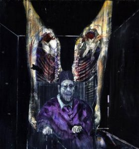 Francis Bacon, Figure with meat (1954)
