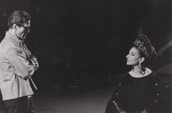 Pasolini e Maria Callas. Foto di Mario Tursi