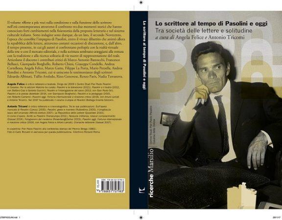 """""""Lo scrittore al tempo di Pasolini e oggi"""". Copertina ridotta"""