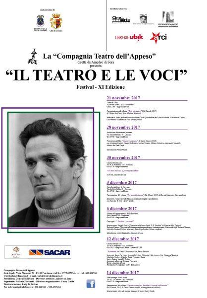 """""""Il Teatro e le Voci"""" 2017. Locandina"""