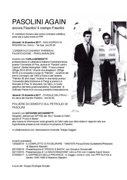 """Progetto """"Pasolini again"""". Locandina"""