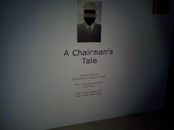 """""""The chairman"""" alla Biennale Arte di Venezia"""