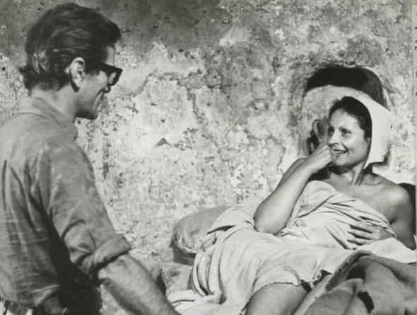 """Pasolini e Angela Luce-Peronella sul set del """"Decameron"""" (1971)"""