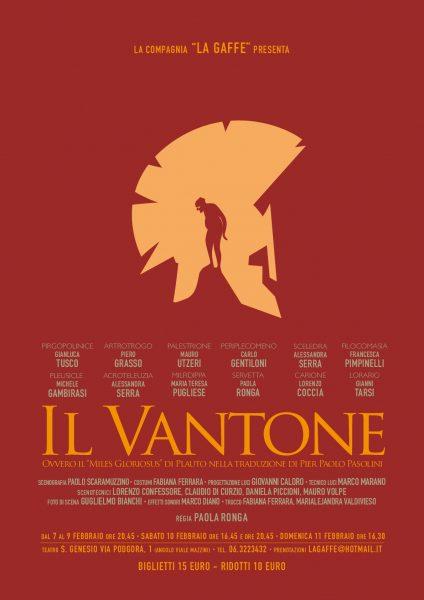 """""""Il Vantone"""" della Compagnia La Gaffe. Locandina"""