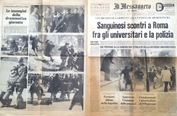 Gli scontri di Valle Giulia sulla stampa