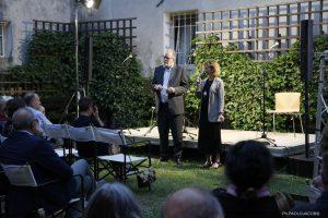 Piero Colussi, presidente del Centro Studi, e Lavinia Clarotto, sindaco di Casarsa