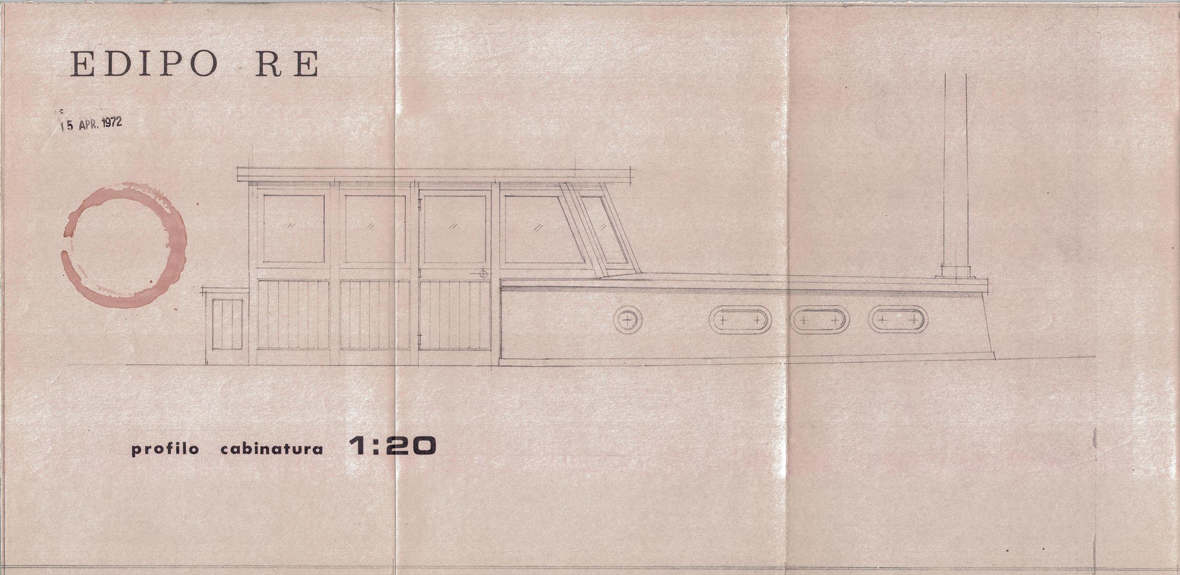 Ado Buiatti, disegno di Edipo Re, 1972, Archivio Buiatti