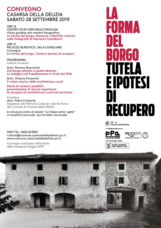 CSPPP & Lusignis - Convegno La forma del borgo (28-09-2019)