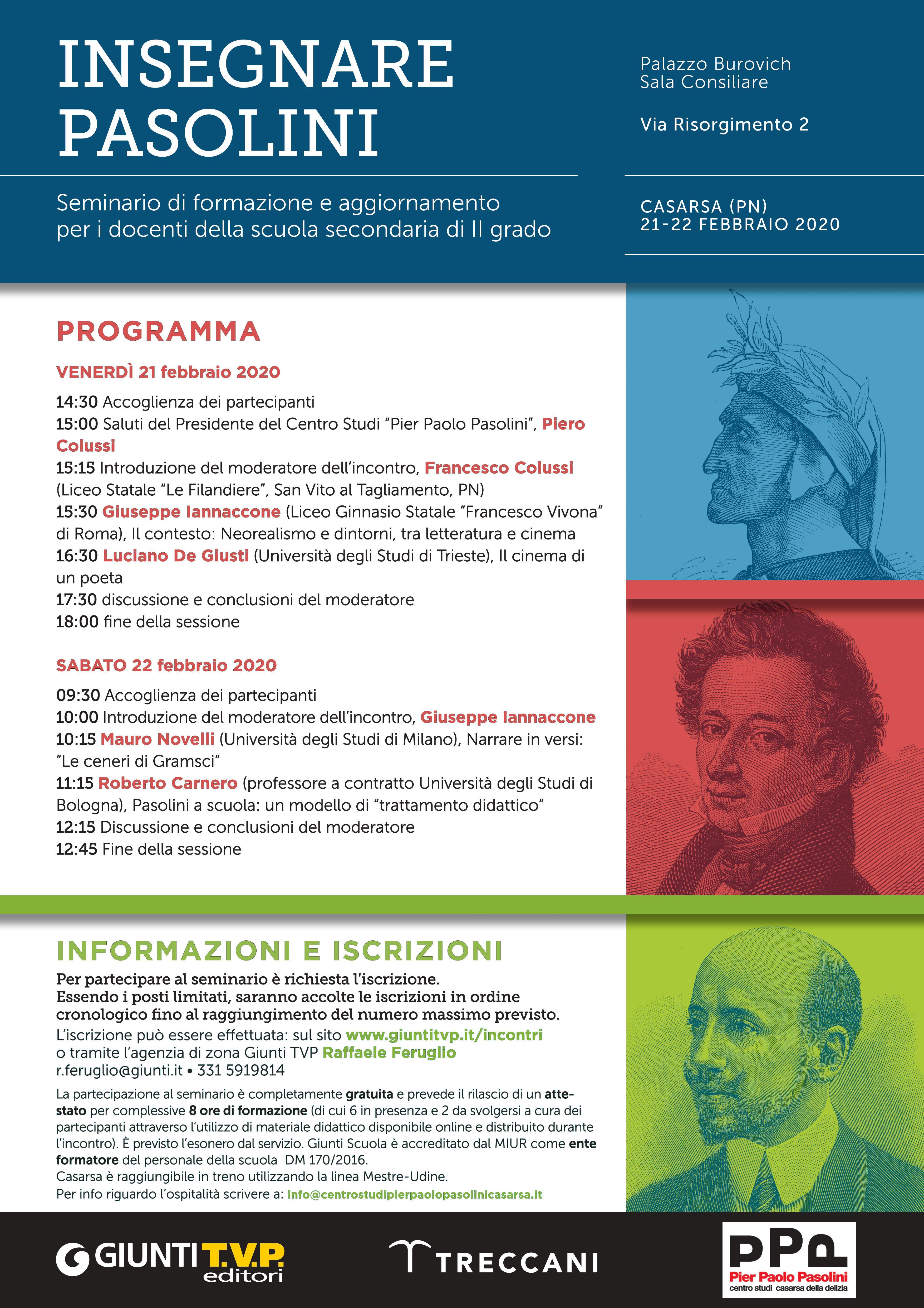 Programma Seminario docenti CSPPP 21-22 febbraio 2020