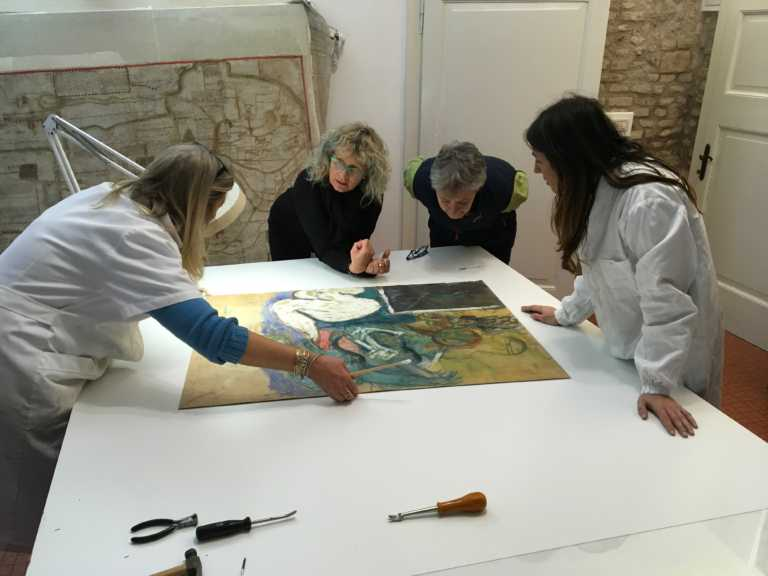 Restaurate dal Centro Studi 19 opere pittoriche di Pasolini